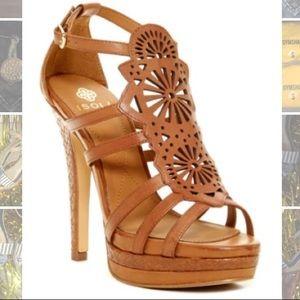 Isola Shoes - Isolá Leather Delanna Platform Heel Sandal